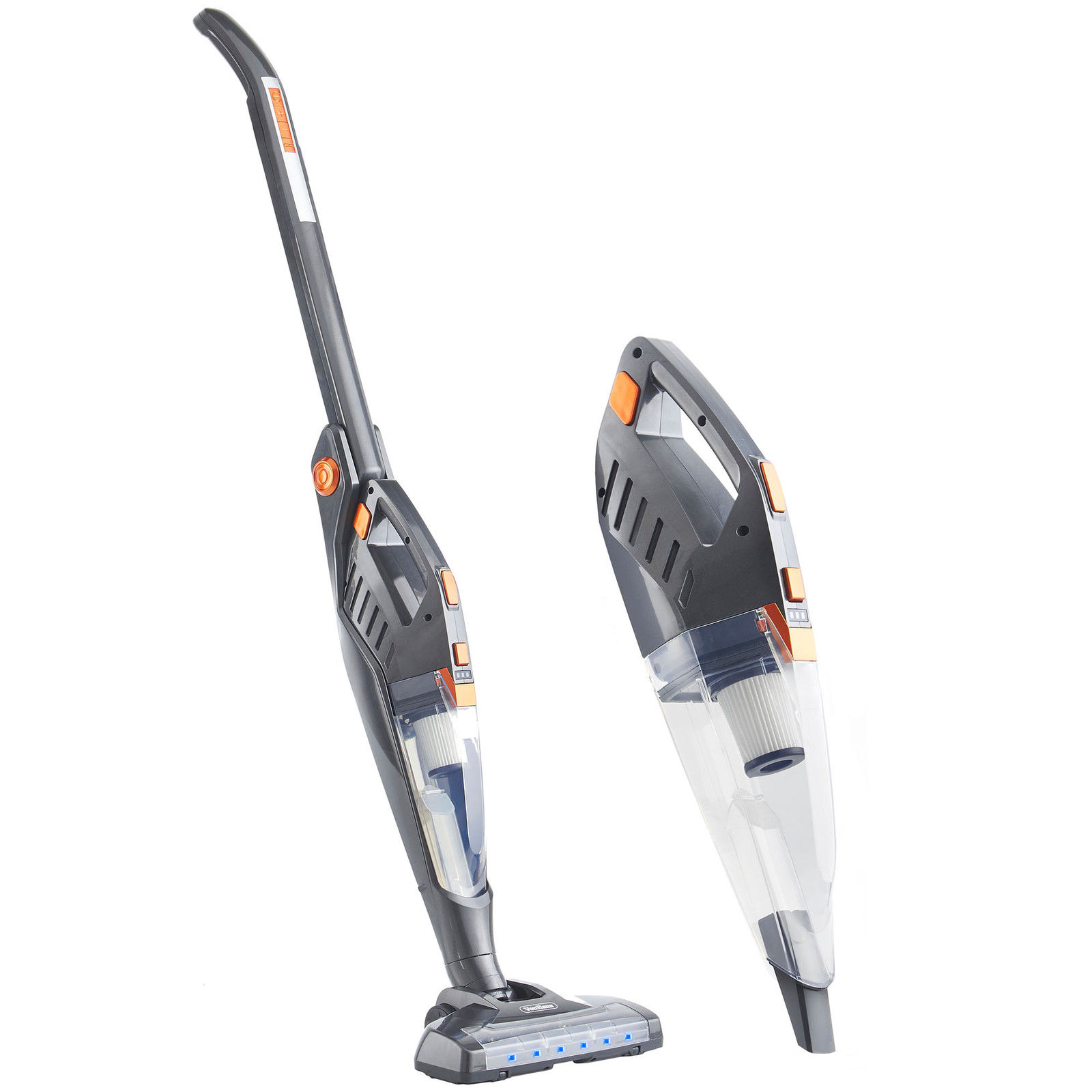 vonhaus folding 2 in 1 cordless stick vacuum cleaner 22 2v battery accessories ebay. Black Bedroom Furniture Sets. Home Design Ideas