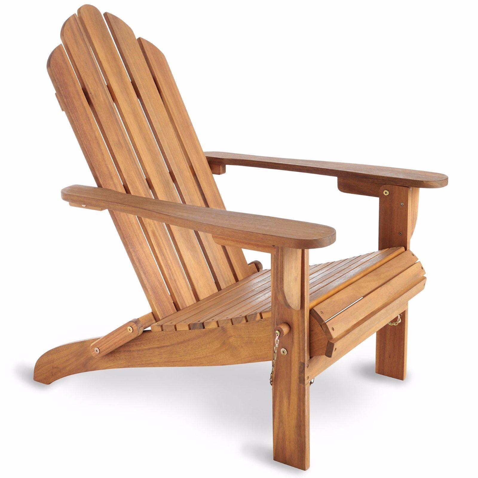 vonhaus folding adirondack chair outdoor garden patio. Black Bedroom Furniture Sets. Home Design Ideas