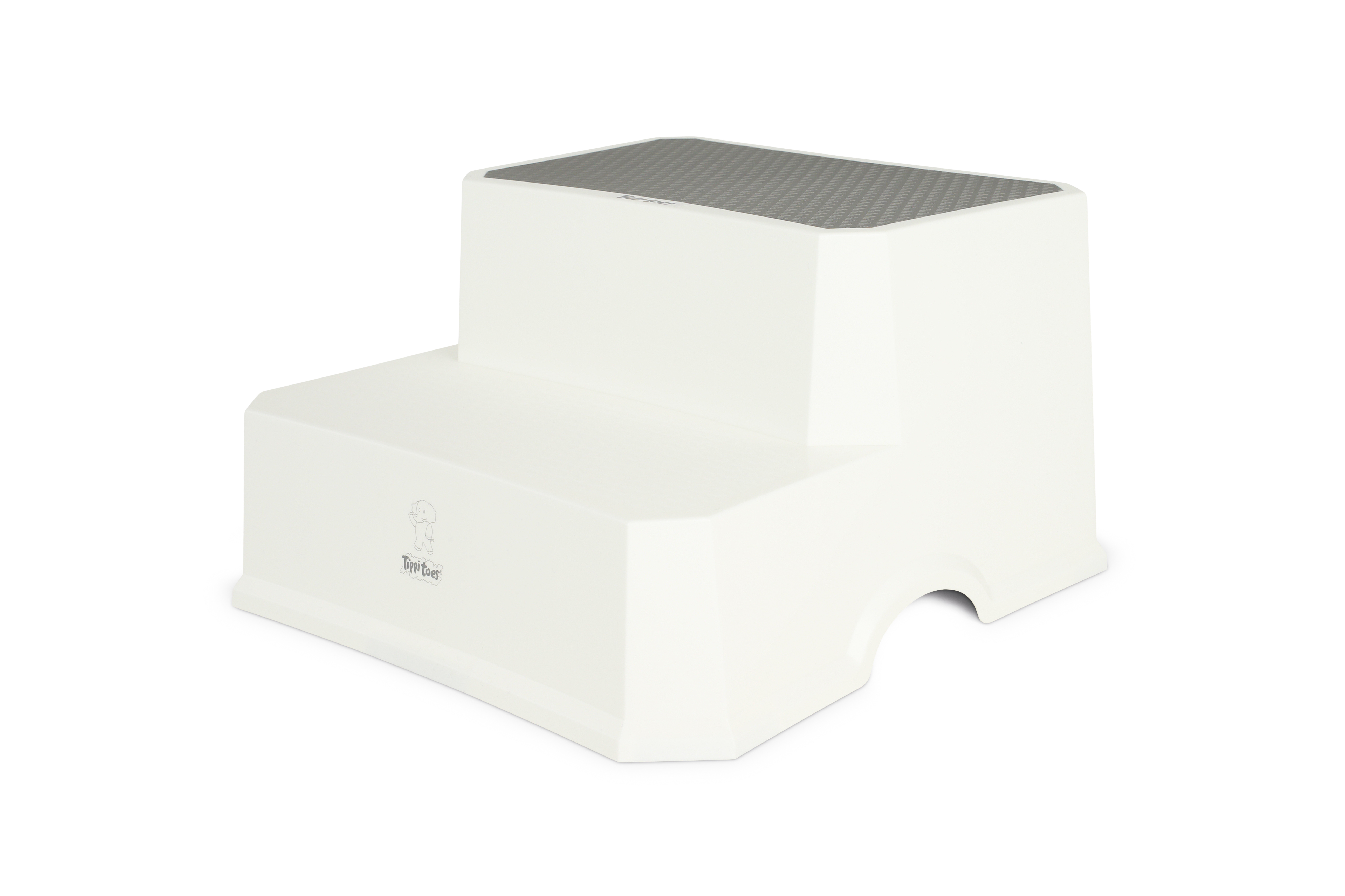 Tippitoes Double Step Stool White Grey Reach Toilet Sink