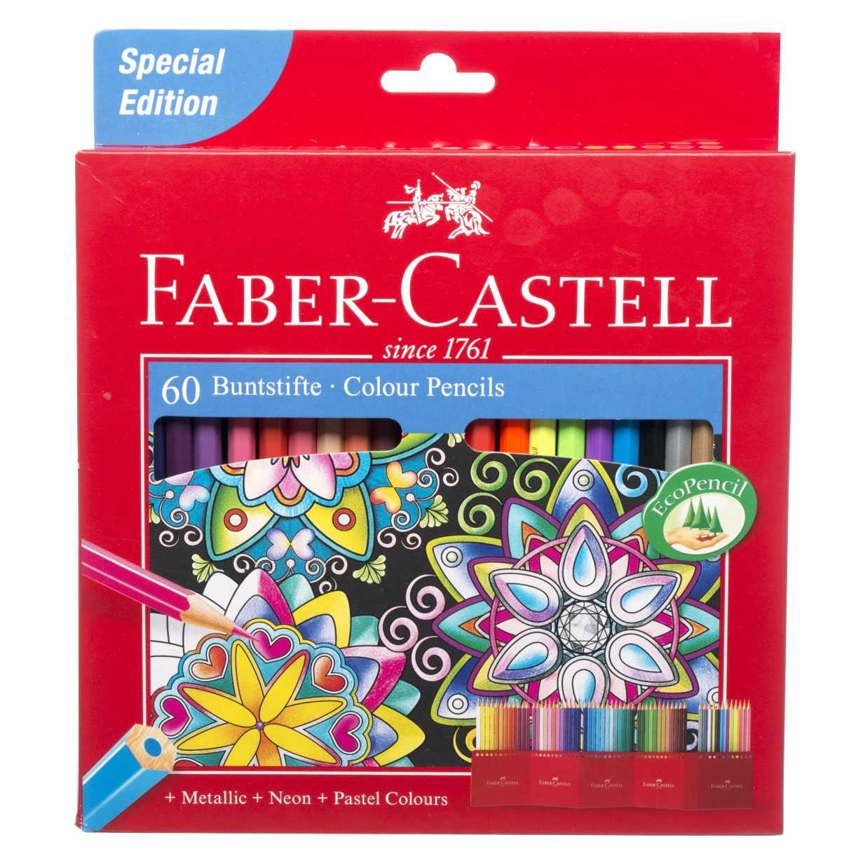 faber castell assorted colouring pencils metallic neon and pastel eco pack of 60 ebay. Black Bedroom Furniture Sets. Home Design Ideas