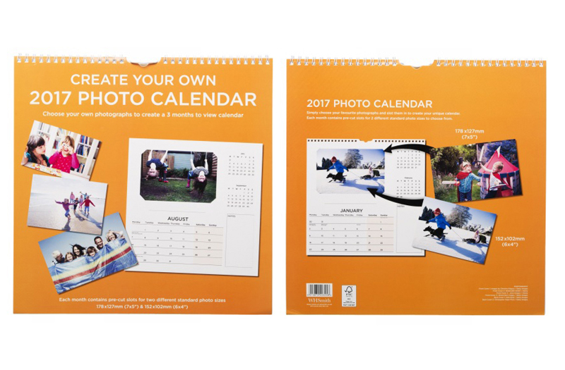 Design Your Own Calendar : Whsmith create your own photo square calendar month