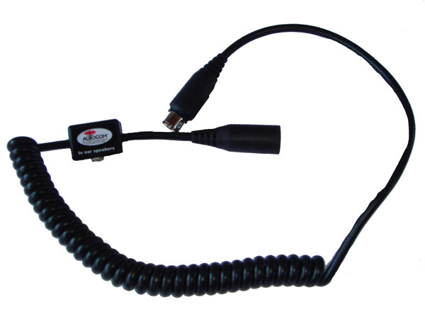 Coil Extension Lead : Autocom coiled extension lead with mm socket for