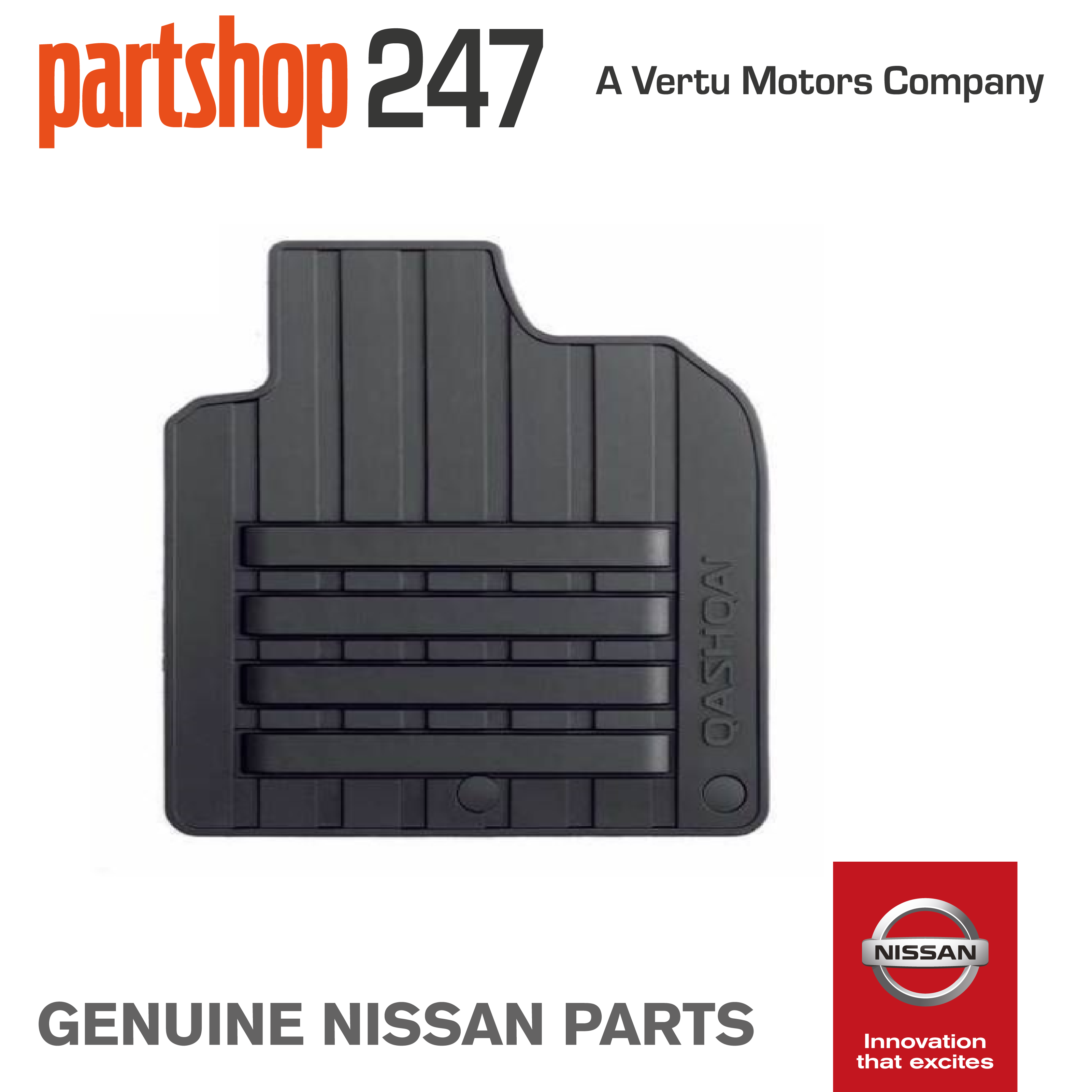 Floor mats qashqai - Genuine Nissan Qashqai 07 14 Car Rubber Floor Mats Tailored X4 Ke758jd089ns