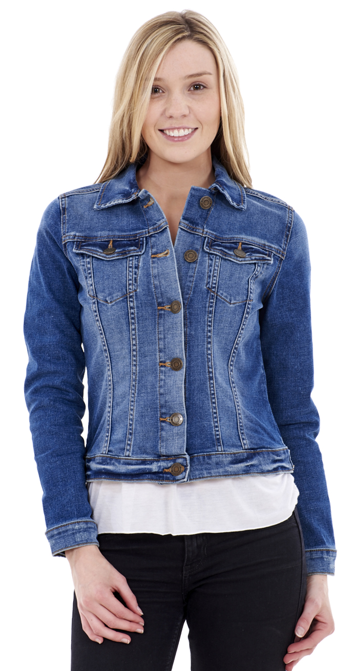 This jacket is just like Mom's, only smaller. Updated with nautical anchor buttons, this classic wear-with-all style comes in a soft cotton that's as .