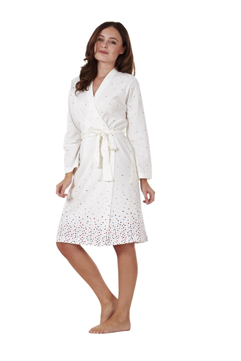 ladies quality wrap kimono 100 cotton printed robe womens. Black Bedroom Furniture Sets. Home Design Ideas