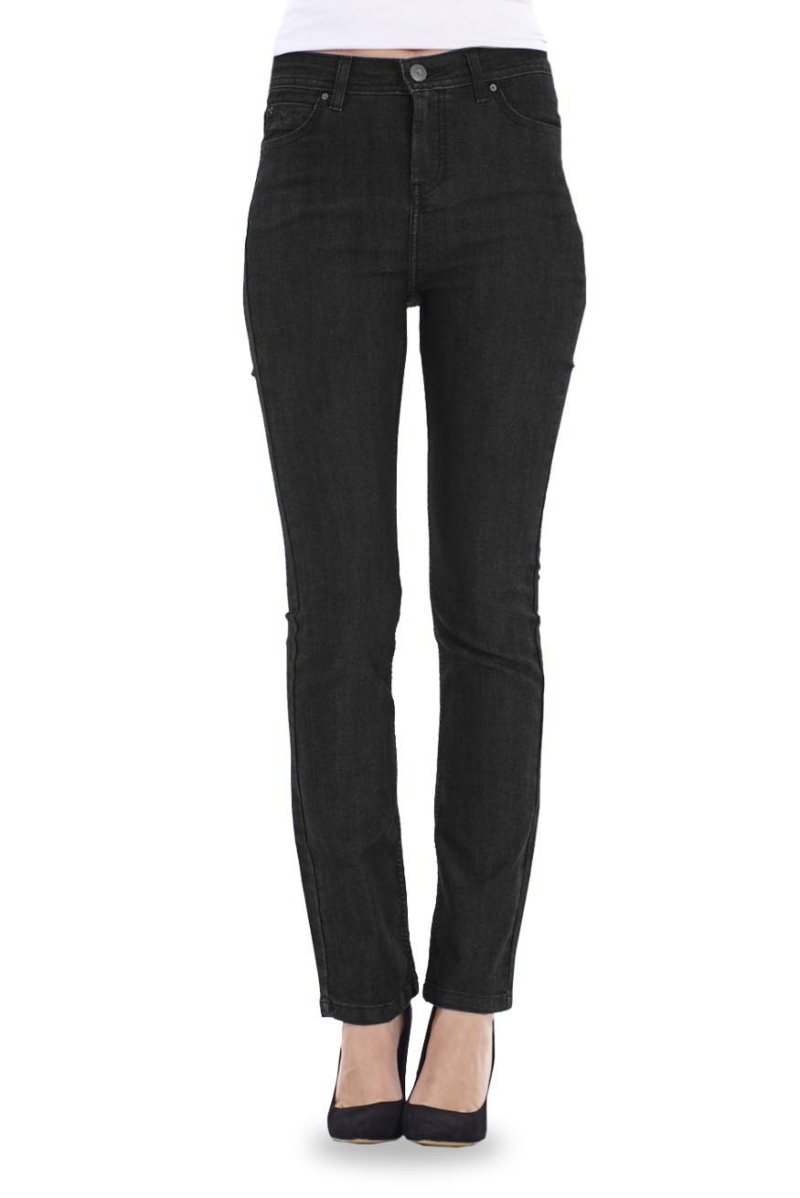 Luxury Home Womens Jeans Womens NYDJ Straight Leg Jeans In Black