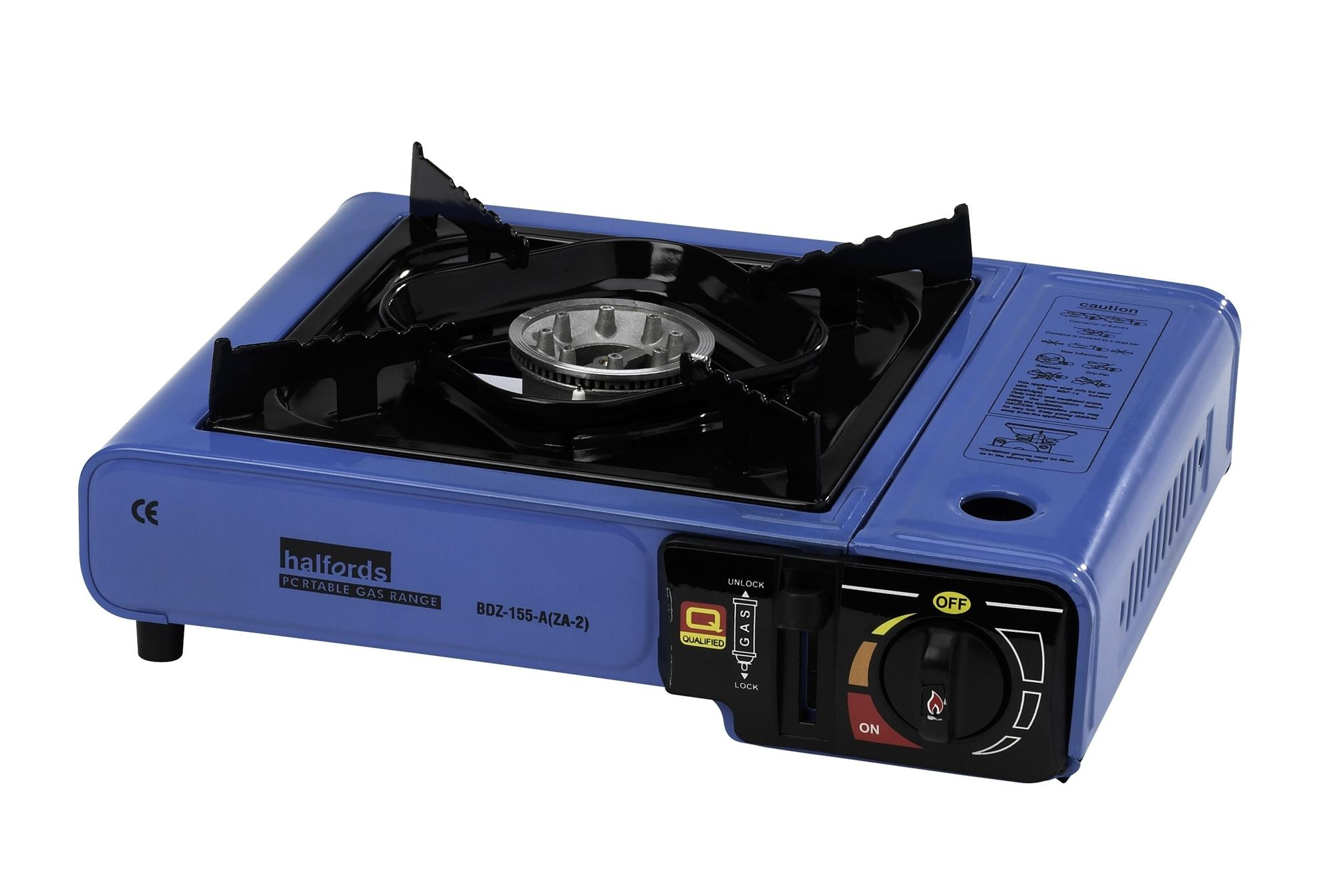 halfords portable single ring gas stove outdoor camping. Black Bedroom Furniture Sets. Home Design Ideas