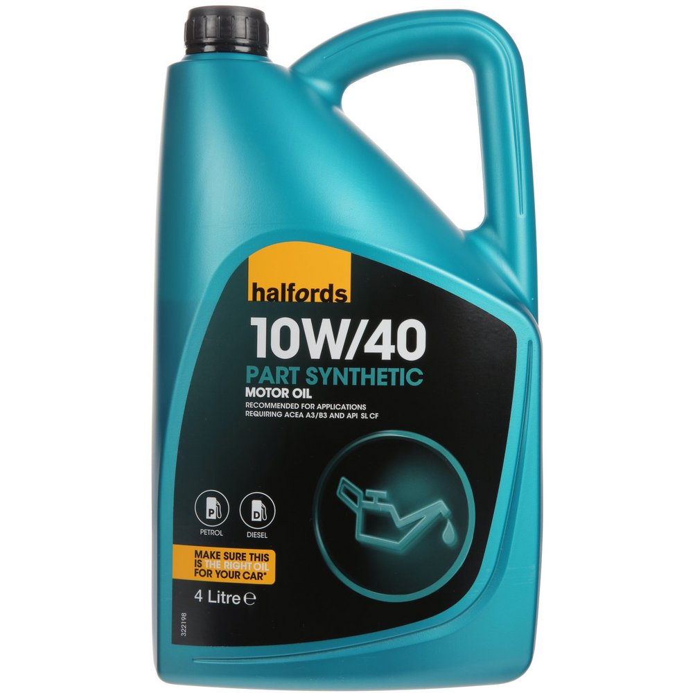 Halfords 10W40 Semi Synthetic Car Motor Engine Oil 4L