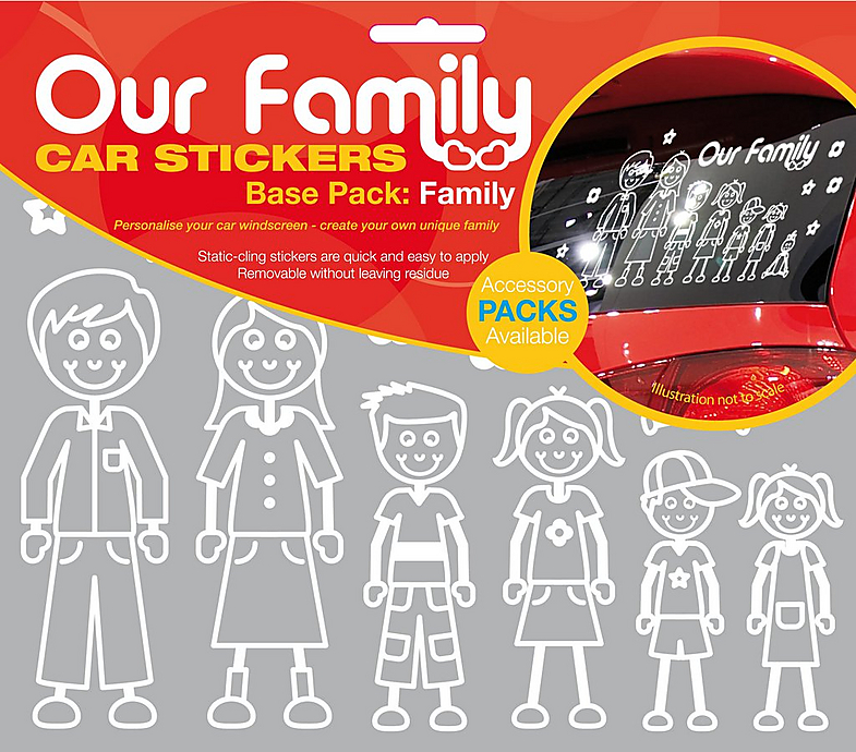 Our Family Car Sticker Base Pack Rear Vehicle Windscreen