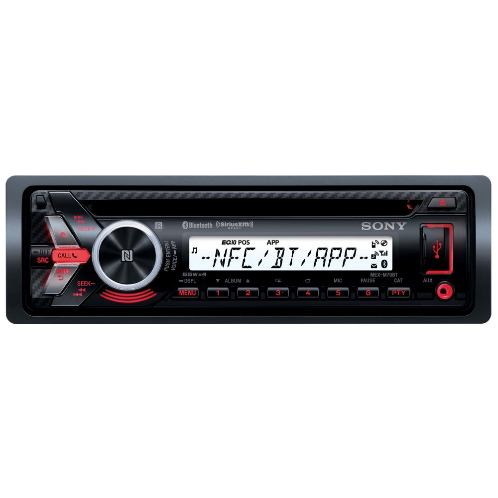 sony marine mex m70bt car stereo radio player cd mp3 bluetooth usb aux in fm am ebay. Black Bedroom Furniture Sets. Home Design Ideas