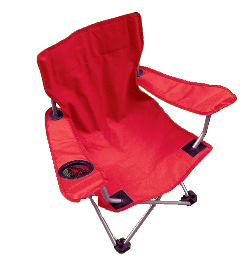 Halfords Childrens Kids Camping Chair Fold Up Red Arm Rest