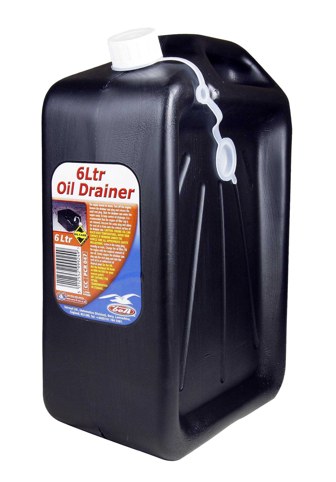 Bell Engine Oil Drainer Draining Waste Can 6 Litres Garage