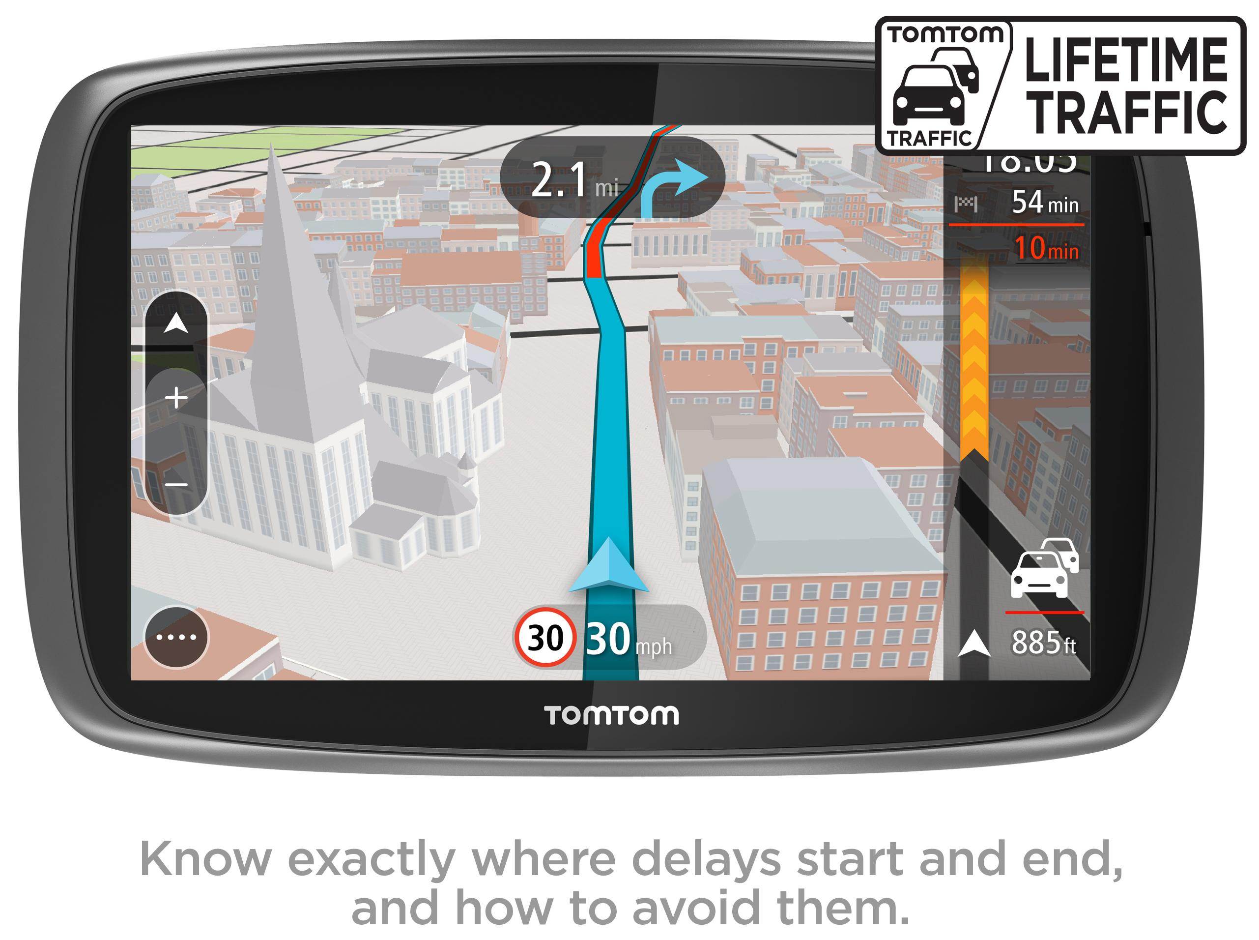 tomtom go 5100 5 car sat nav gps mydrive lifetime traffic. Black Bedroom Furniture Sets. Home Design Ideas