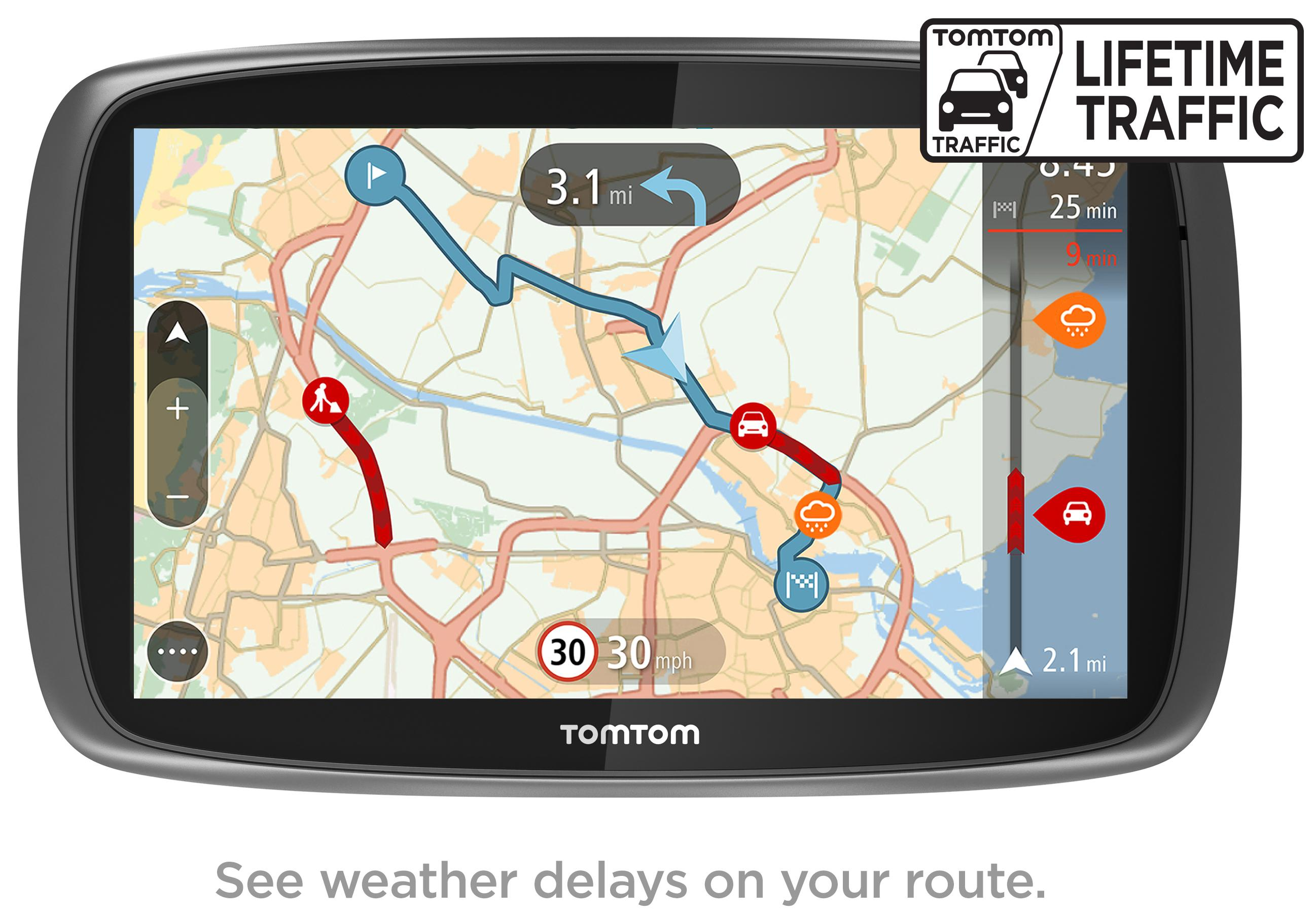 tomtom go 6100 6 sat nav gps navigation mydrive lifetime. Black Bedroom Furniture Sets. Home Design Ideas