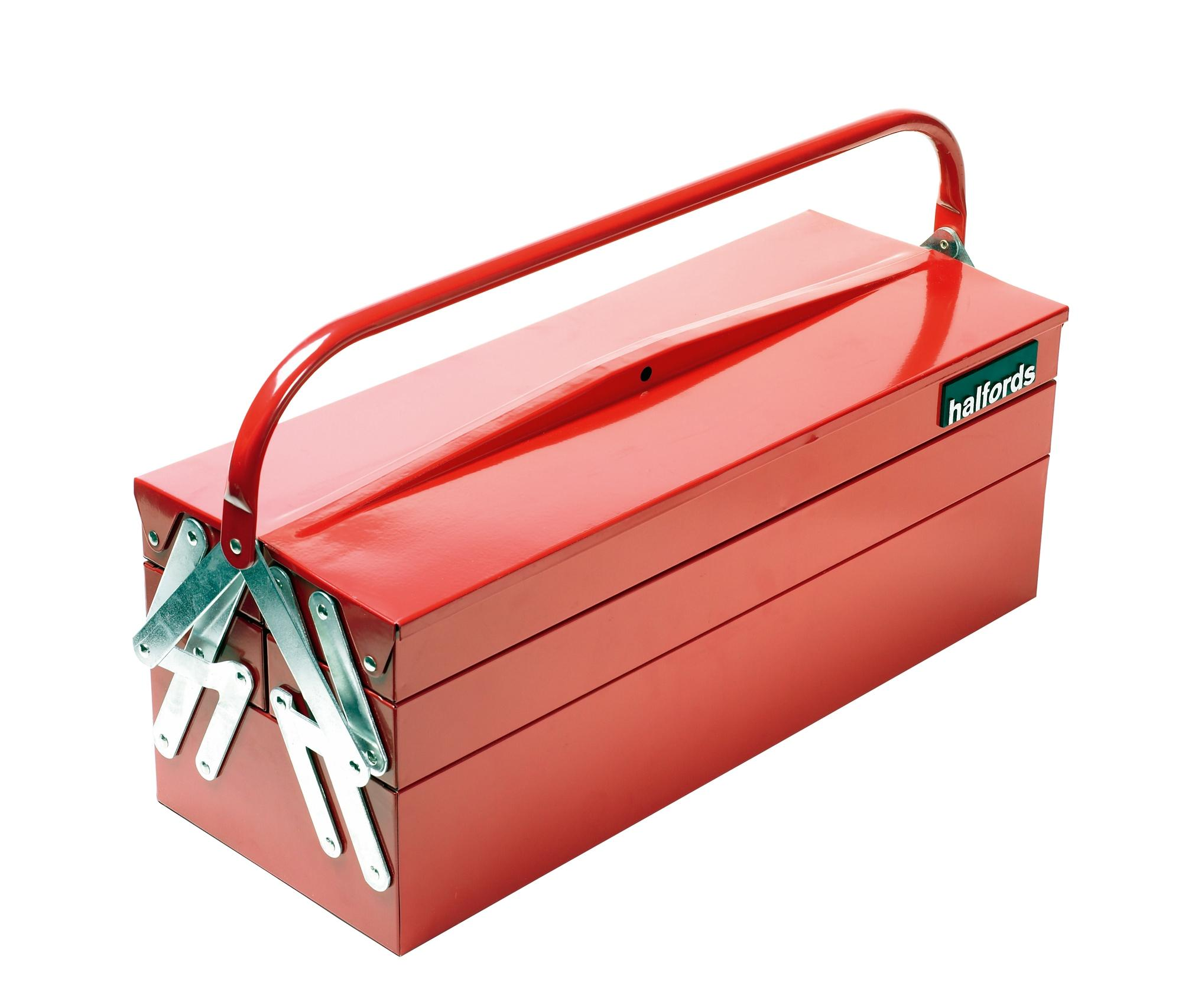 halfords professional cantilever tool box red 5 trays. Black Bedroom Furniture Sets. Home Design Ideas