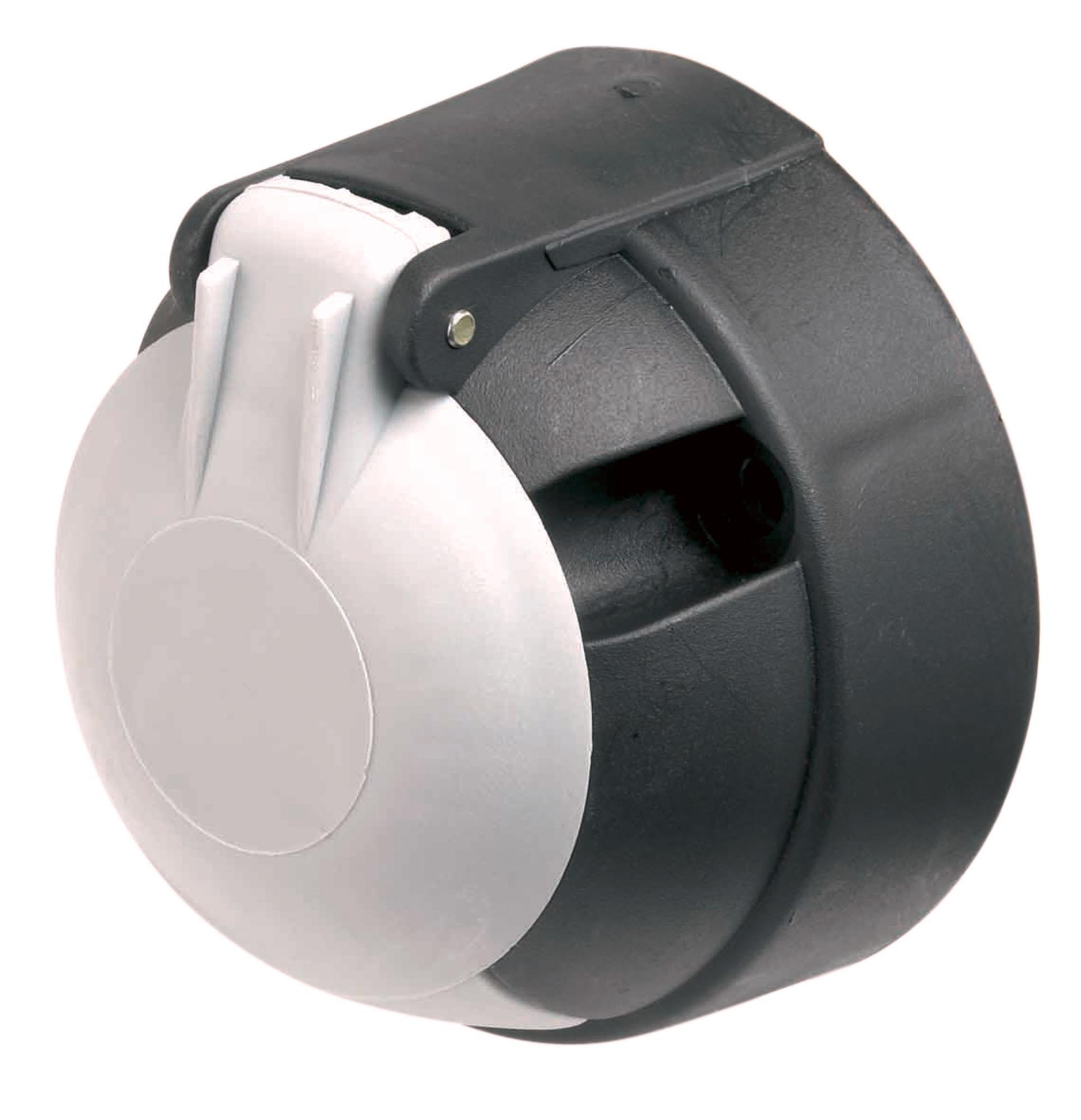 Ring pin socket v s plastic black white cap electric