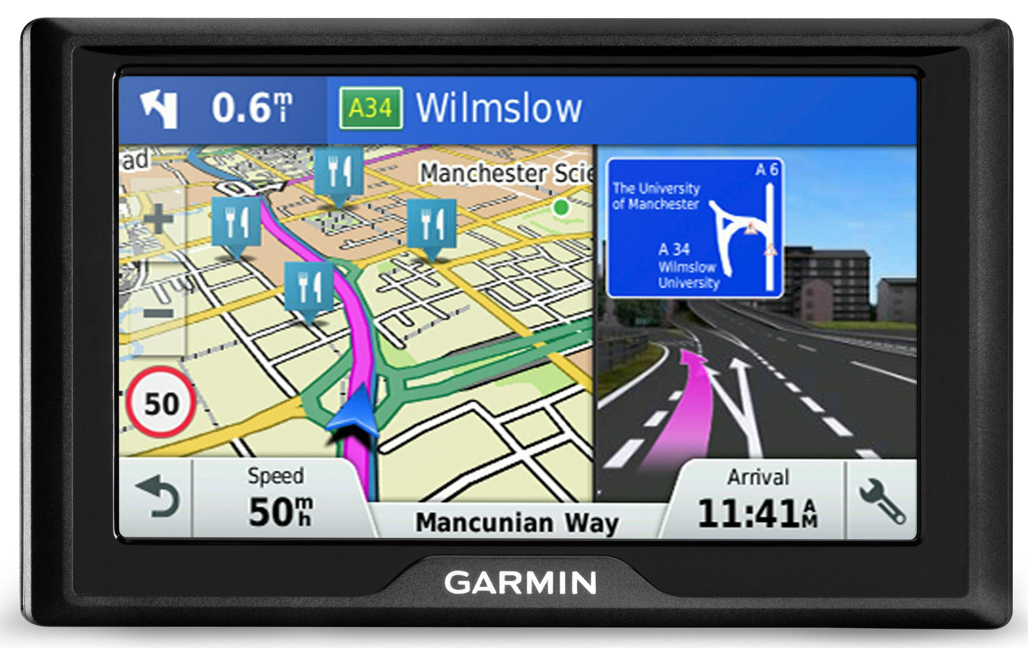 Garmin Drive  Lm Sat Nav Gps Uk Roi Ireland Western Europe Lifetime Map Maps