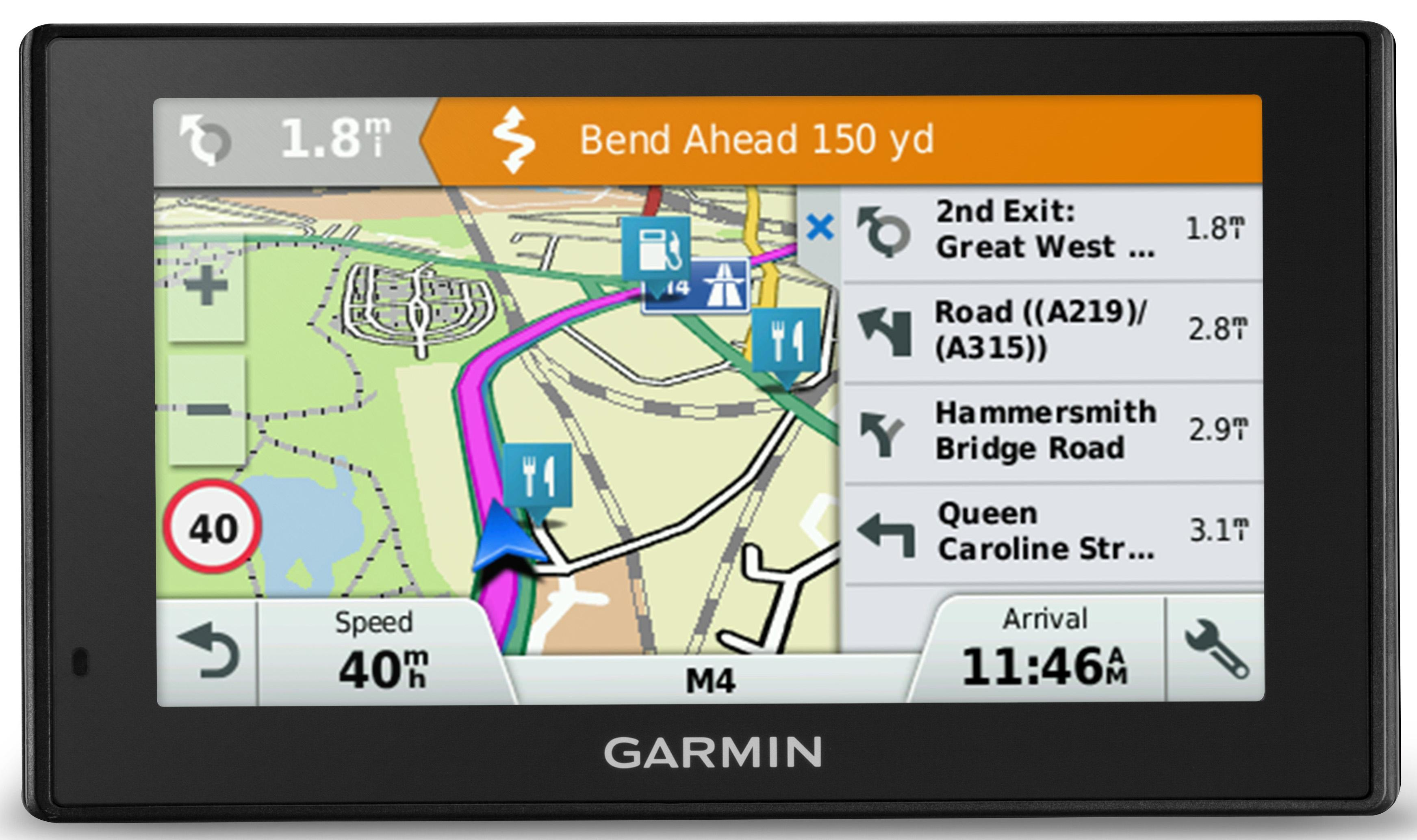 Garmin Drivesmart  Lm Sat Nav Gps Uk Roi Ireland Full Europe Maps Lifetime Map