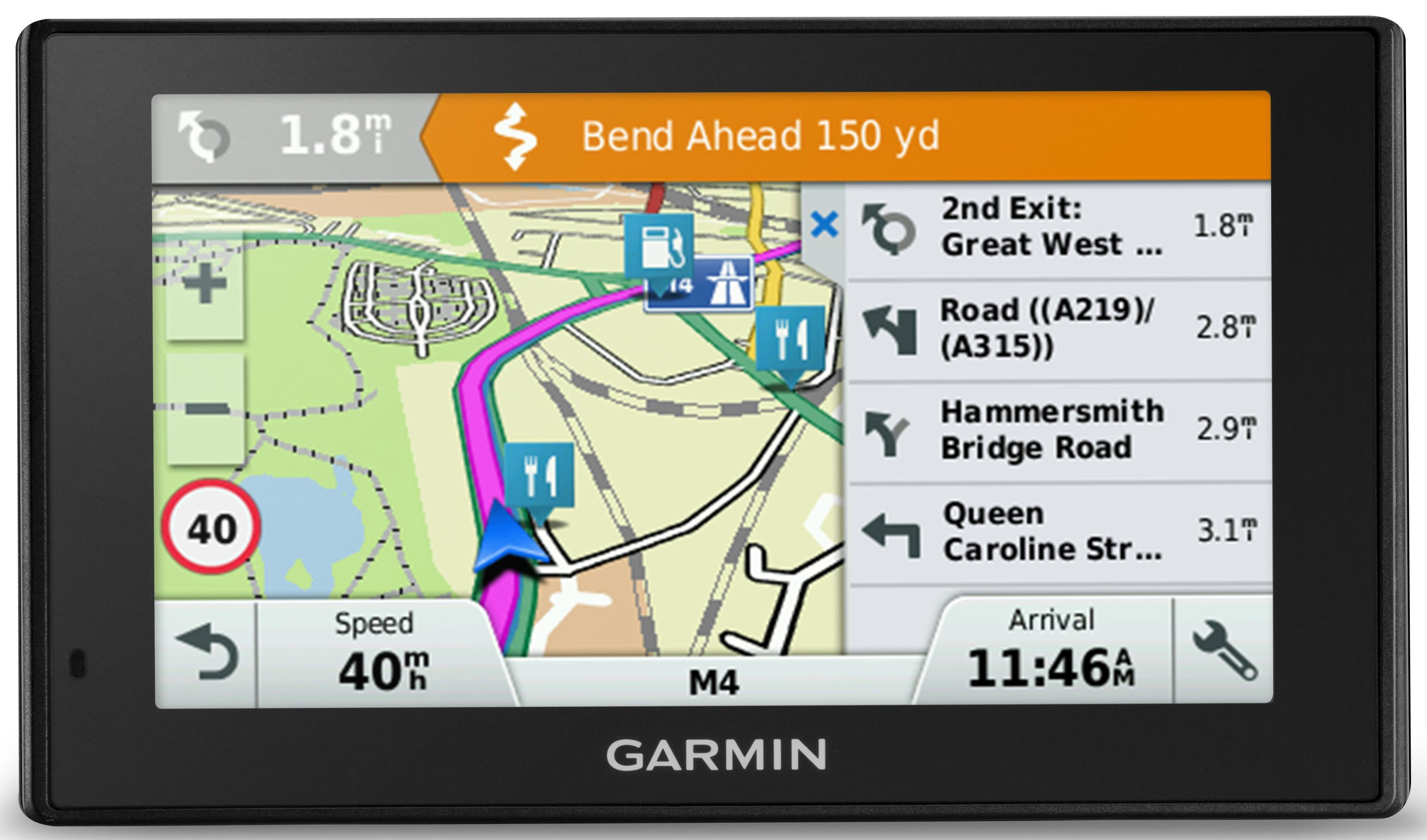 Garmin Drivesmart  Lmt D Sat Nav Gps Uk Roi Full Europe Lifetime Traffic Maps