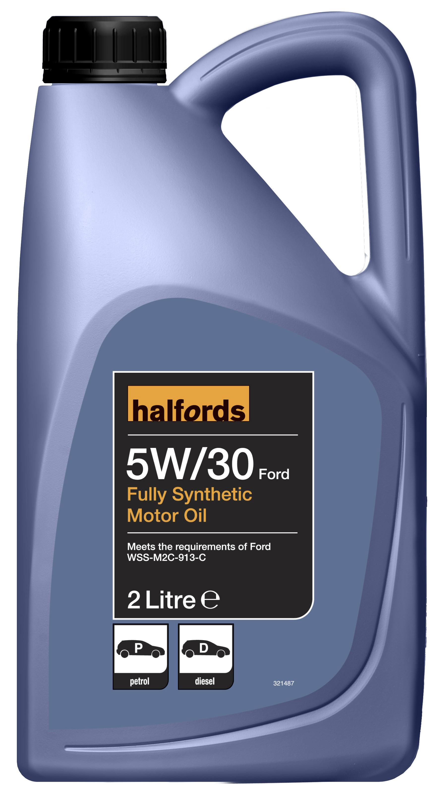Halfords 5w30 Ford Fully Synthetic Motor Oil 2 Litres For