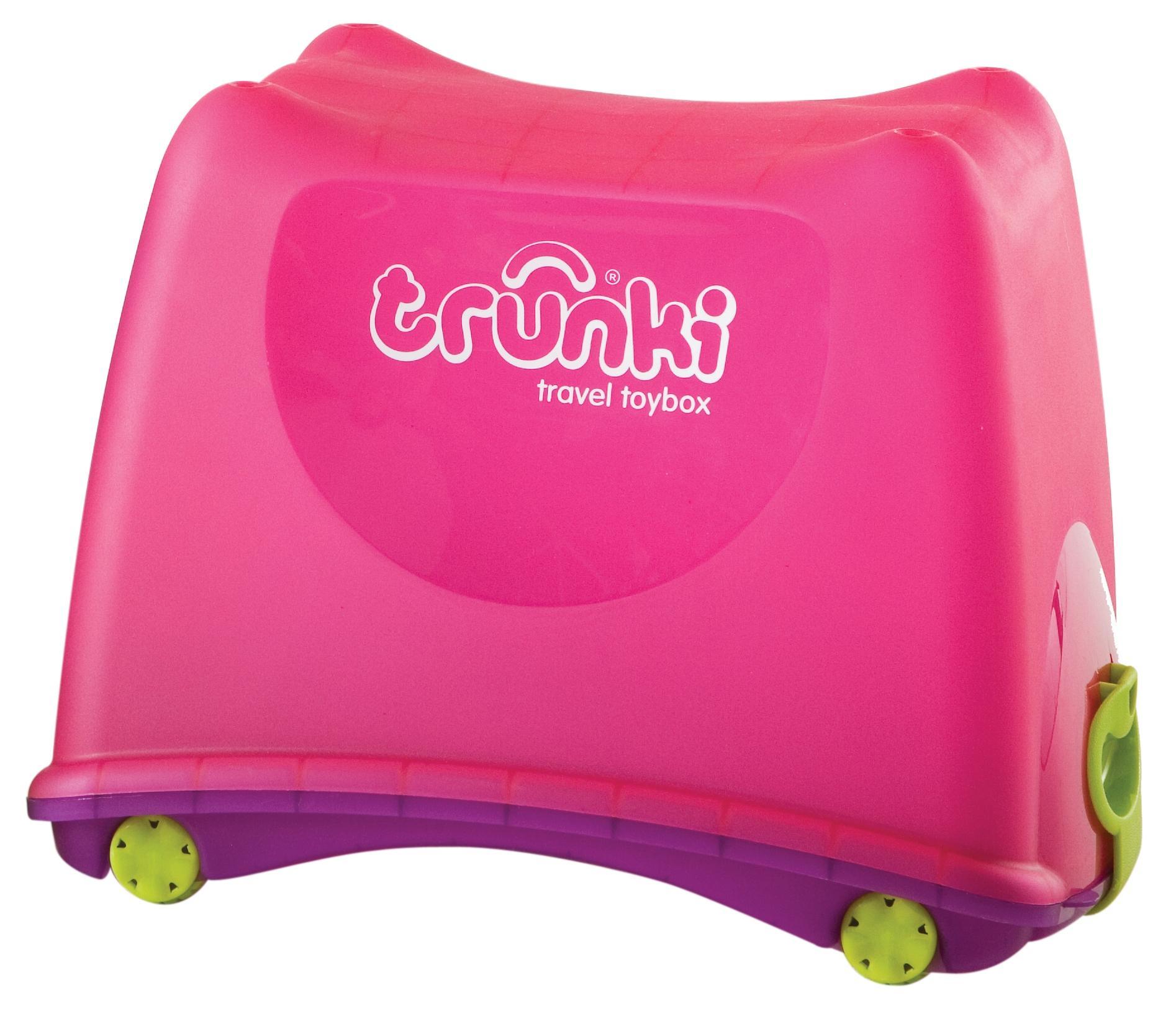 Carnival Toy Box Pink: Trunki Kids Childrens Ride On 25L Pink Polypropylene