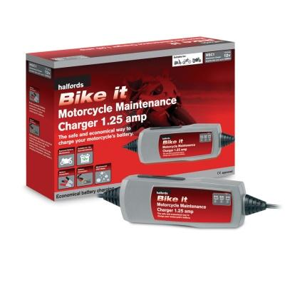 Halfords Bike It Motorcycle Maintenance Charger 1 25 Amp