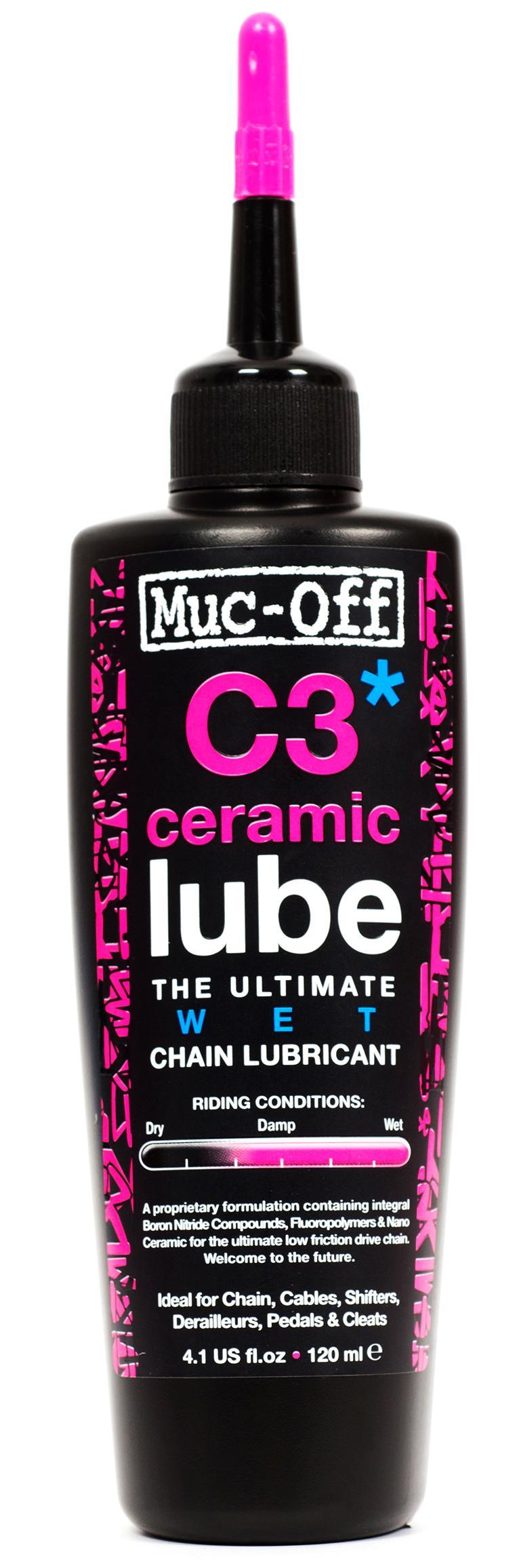 Muc Off C3 Ceramic Lube Wet Chain Lubricant 120ml