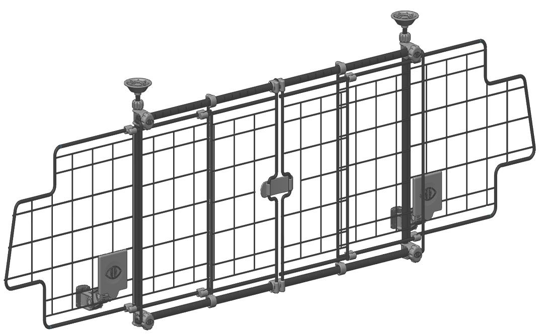 Halfords easy access mesh dog guard safety wire barrier