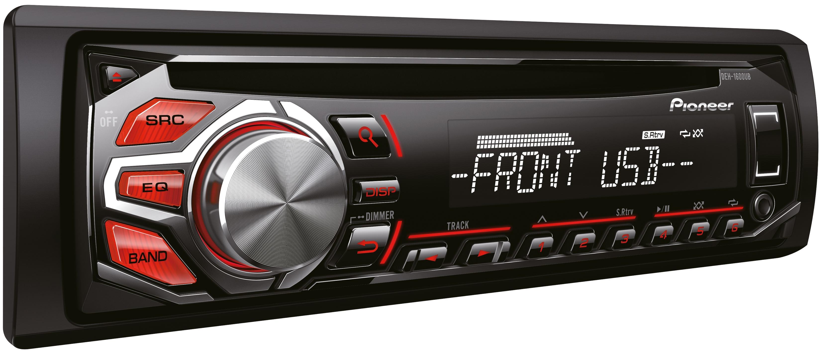 pioneer deh 1600ub car stereo head unit radio mp3 player. Black Bedroom Furniture Sets. Home Design Ideas