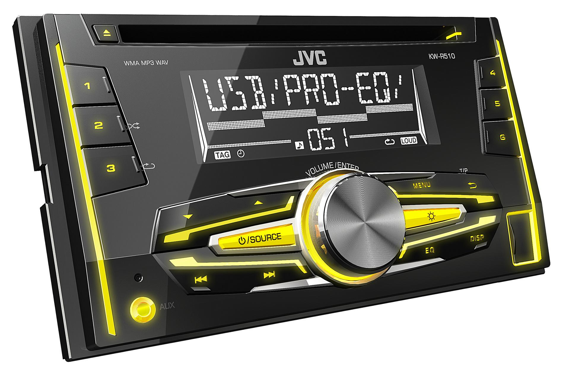 JVC KW-R510 Double Din Car Stereo Radio Bluetooth MP3 AUX