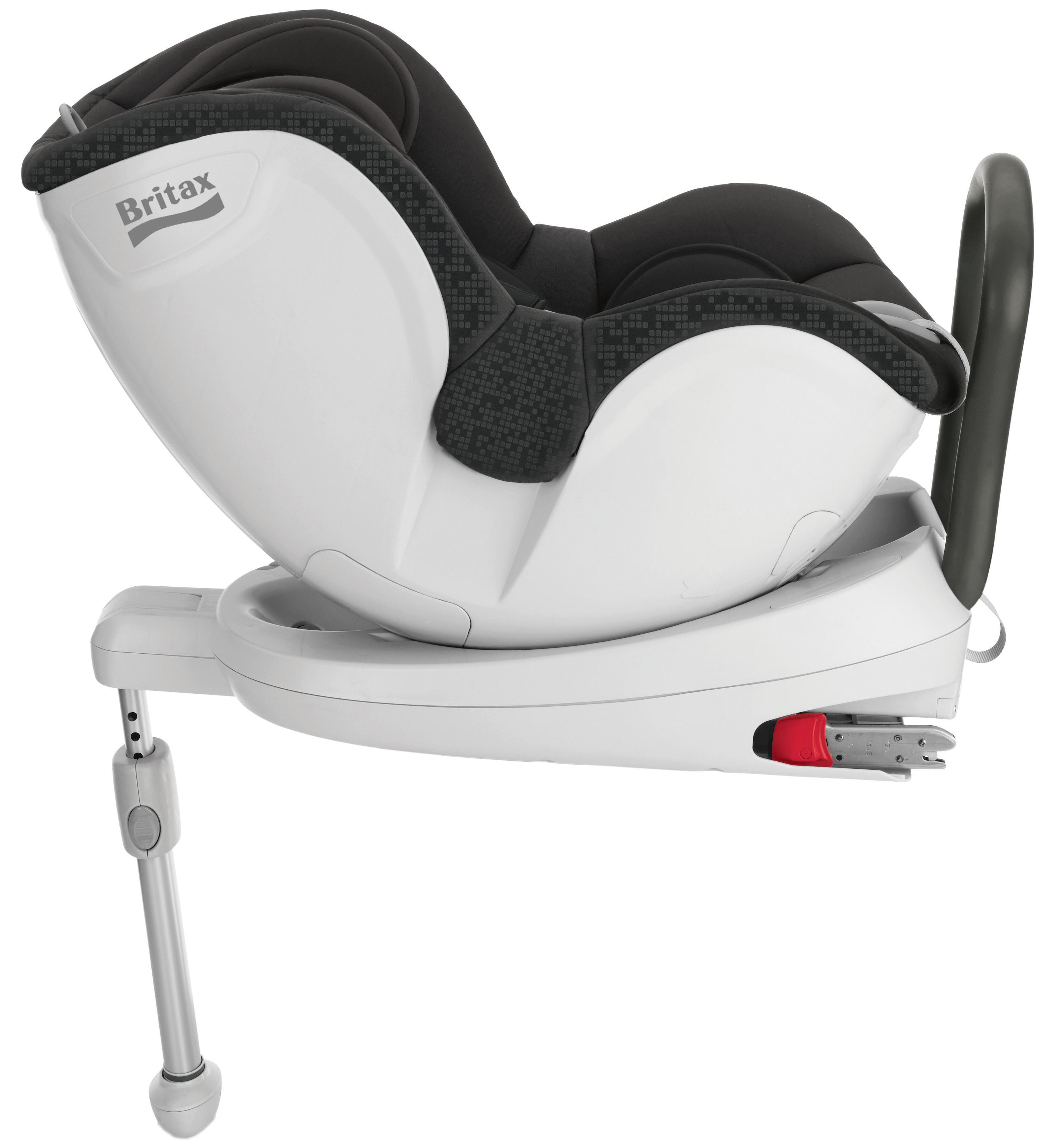 britax dualfix black thunder children kids car seat group 0 1 0 18kg 0 4yrs. Black Bedroom Furniture Sets. Home Design Ideas