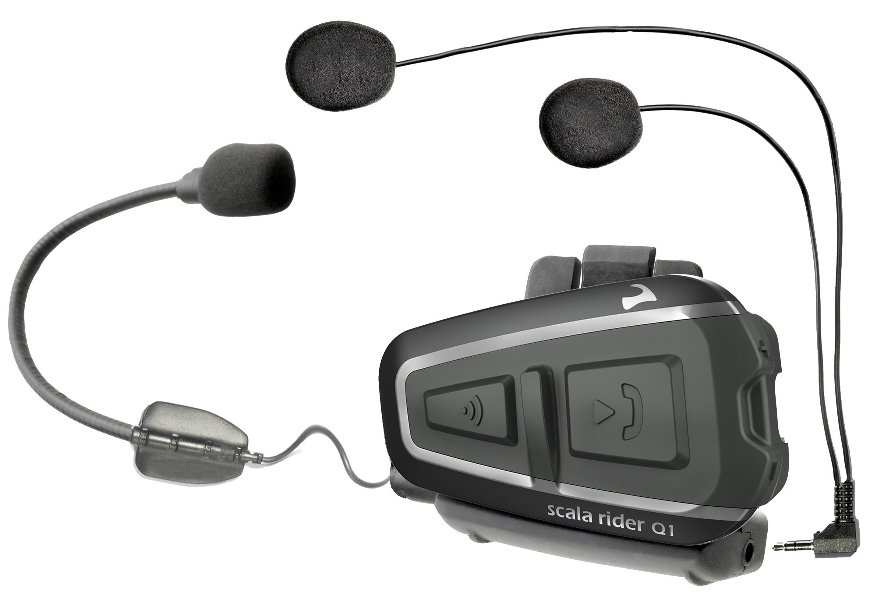 scala rider q1 bluetooth wireless communication system headset ebay. Black Bedroom Furniture Sets. Home Design Ideas