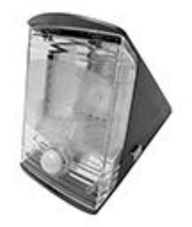 response electronics entrance light solar powered led pir. Black Bedroom Furniture Sets. Home Design Ideas