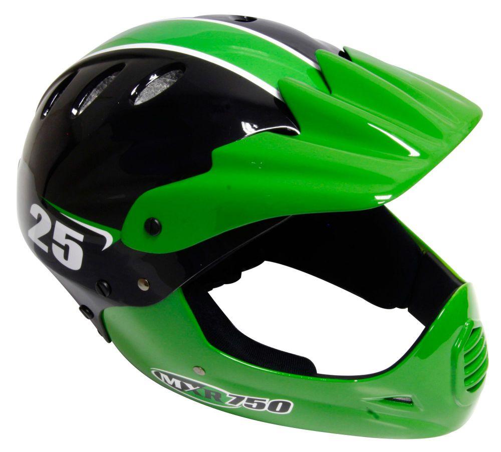... about Motobike MXR750 Motorbike Motorcycle Fullface Helmet in Green