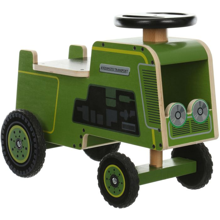 Tractor Toys For Boys : Kiddimoto transport kids boys push ride on wooden retro