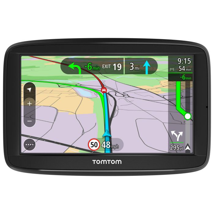 tomtom via 52 5 sat nav uk roi lifetime traffic maps voice control bluetooth ebay. Black Bedroom Furniture Sets. Home Design Ideas
