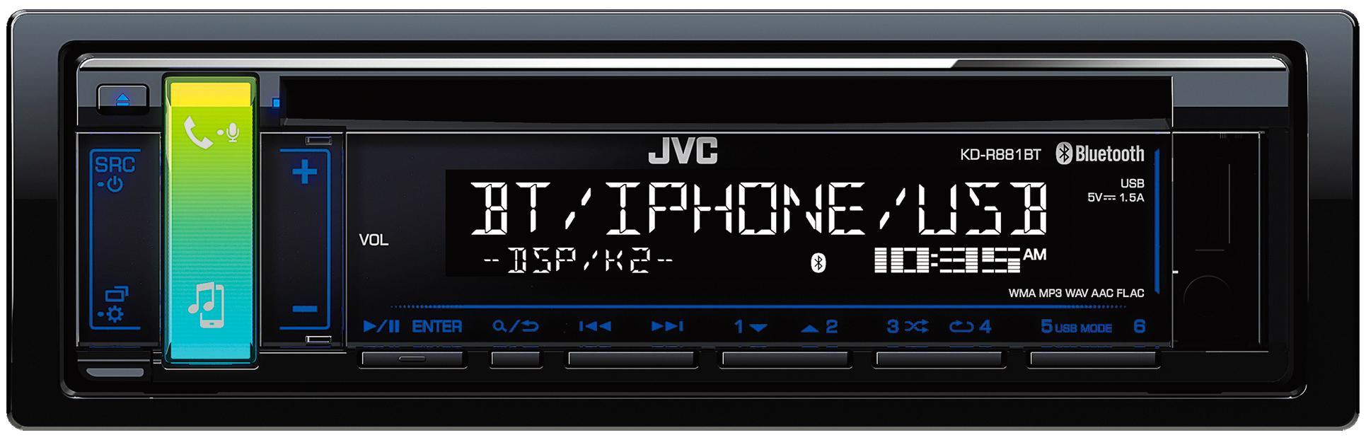 jvc kd r881bt usb receiver bluetooth music sound device. Black Bedroom Furniture Sets. Home Design Ideas