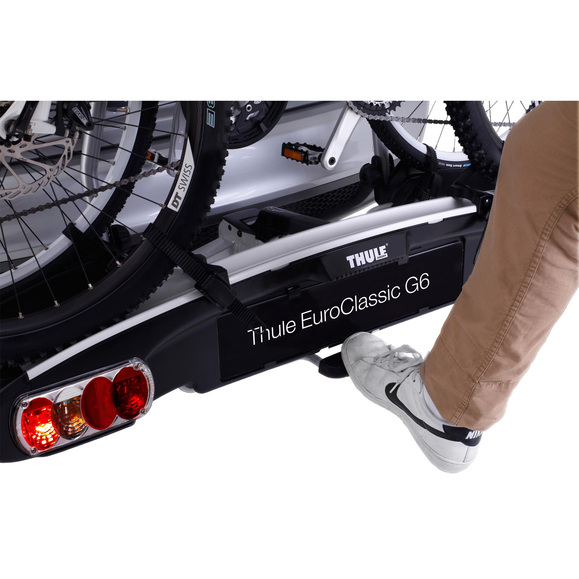 thule euroclassic g6 929 bike bicycle cycling rear mounted carrier holder rack ebay. Black Bedroom Furniture Sets. Home Design Ideas