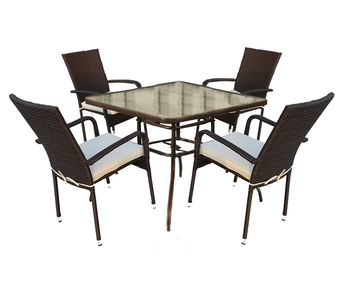 Rattan Garden Dining Table With Tempered Glass Table Top  : chair123 from www.ebay.co.uk size 1208 x 978 jpeg 309kB