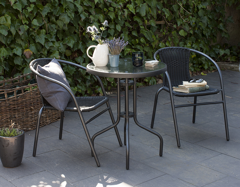 High Quality Rattan Garden Furniture 3 Piece Bistro Set 2