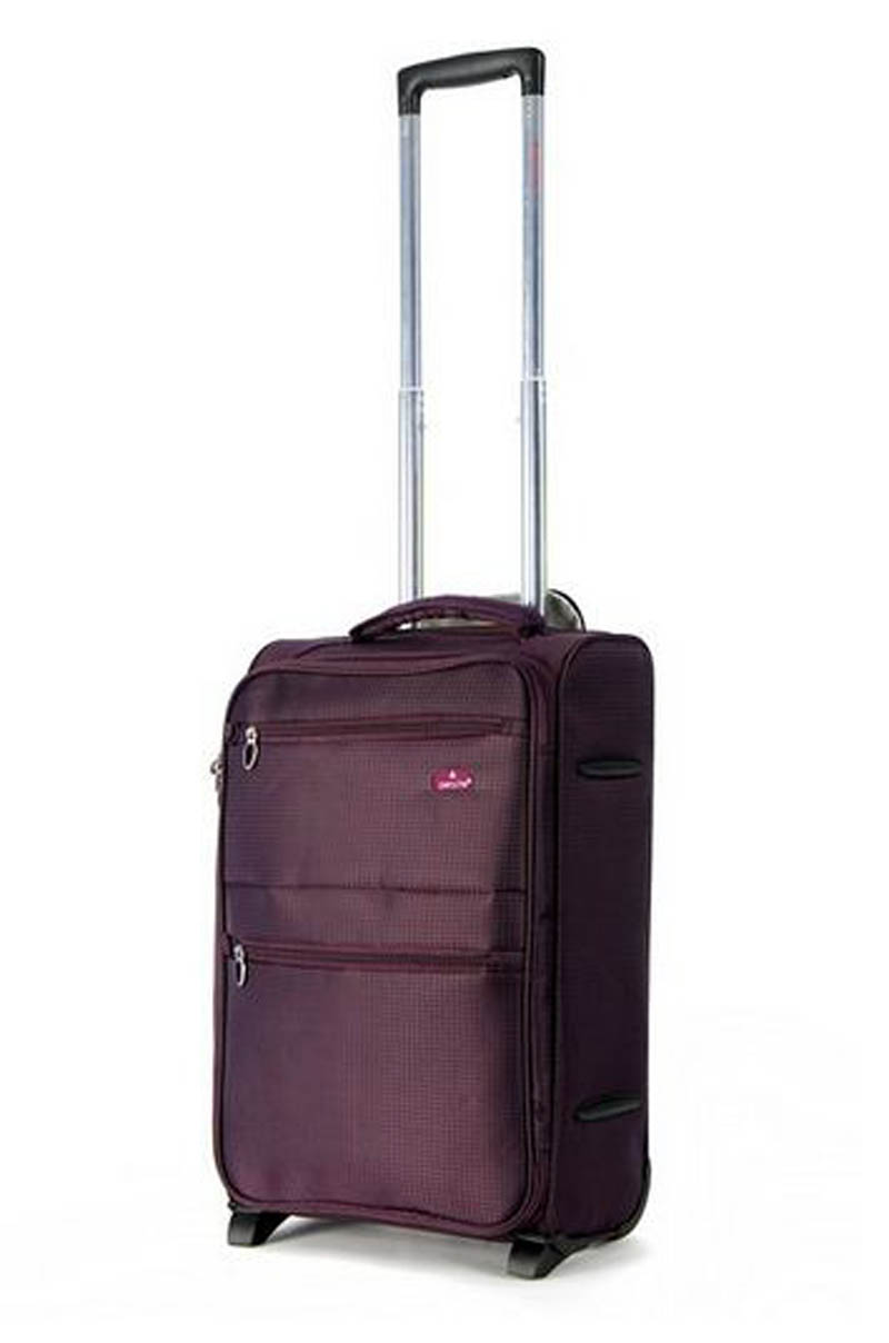 aerolite 21 cabin size trolley case plum 2 wheels. Black Bedroom Furniture Sets. Home Design Ideas
