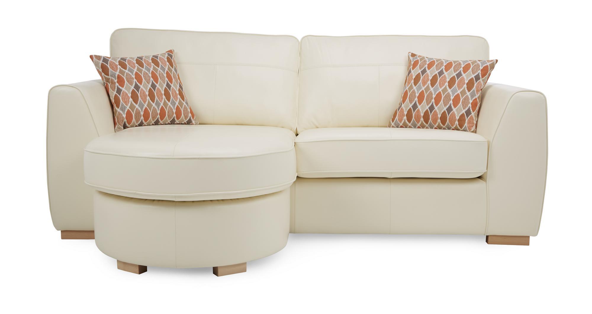 Dfs inez vanilla leather 4 seater lounger sofa chair storage stool 63568 ebay Dfs 4 seater leather sofa