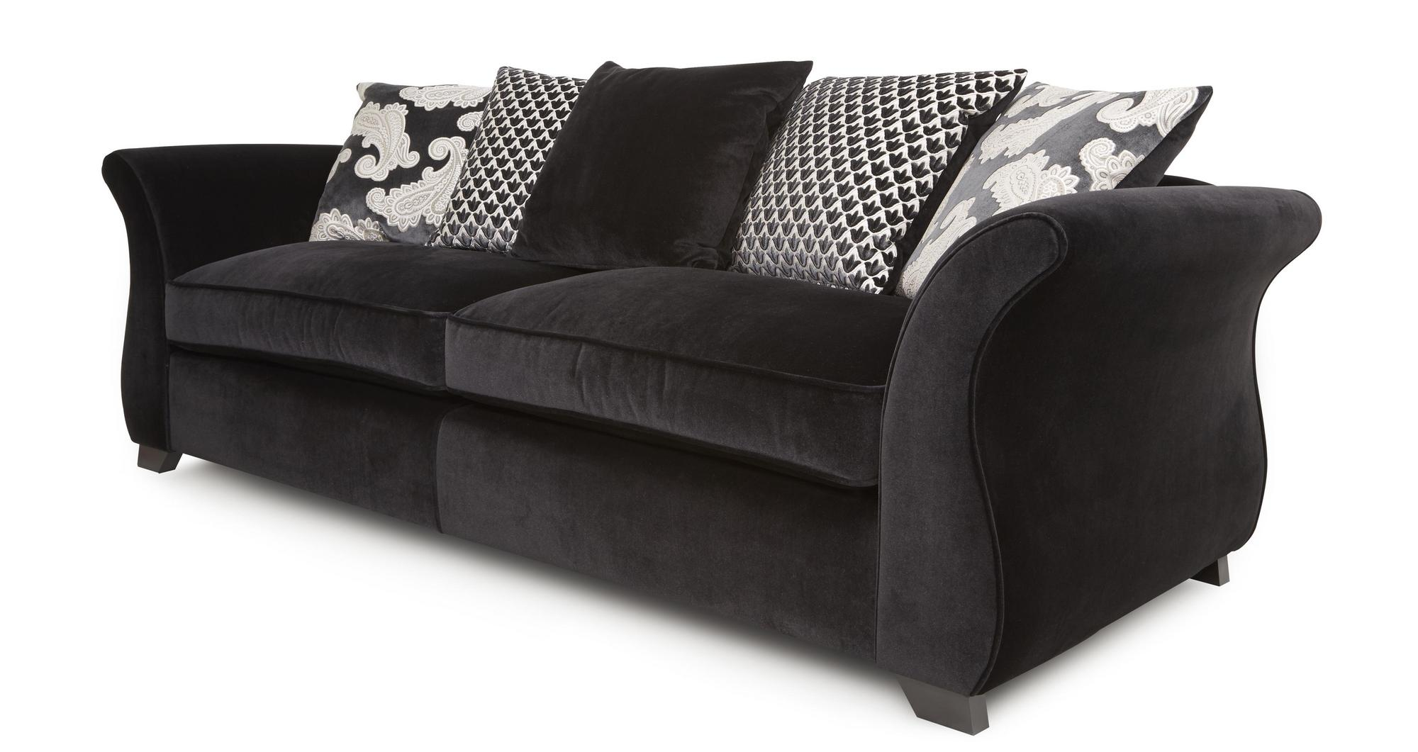 Dfs zaria fabric 4 seater sofa cuddler sofa accent chair footstool 64816 ebay Dfs 4 seater leather sofa