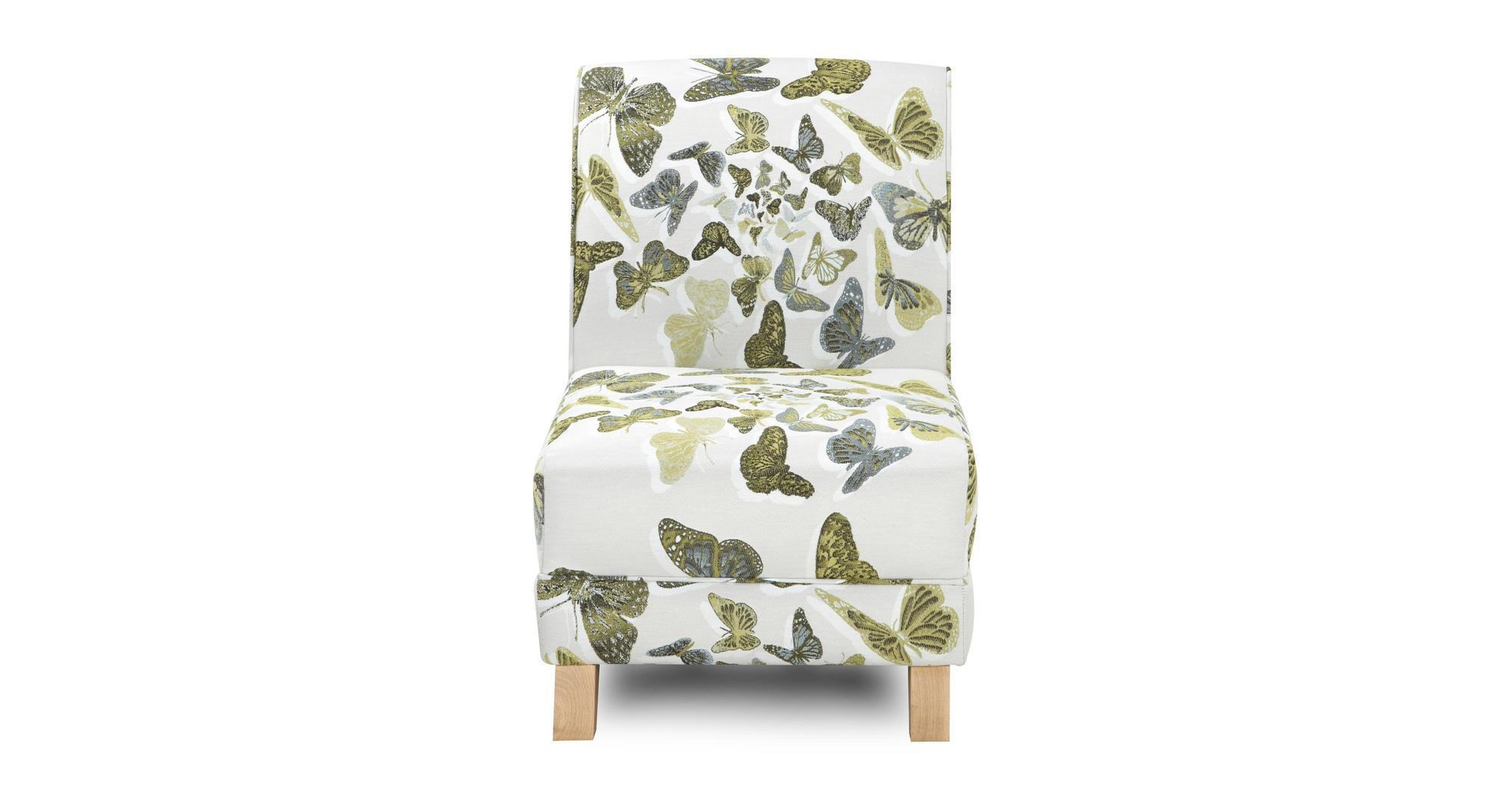 dfs escape lime green butterfly fabric accent chair 83419 ebay. Black Bedroom Furniture Sets. Home Design Ideas