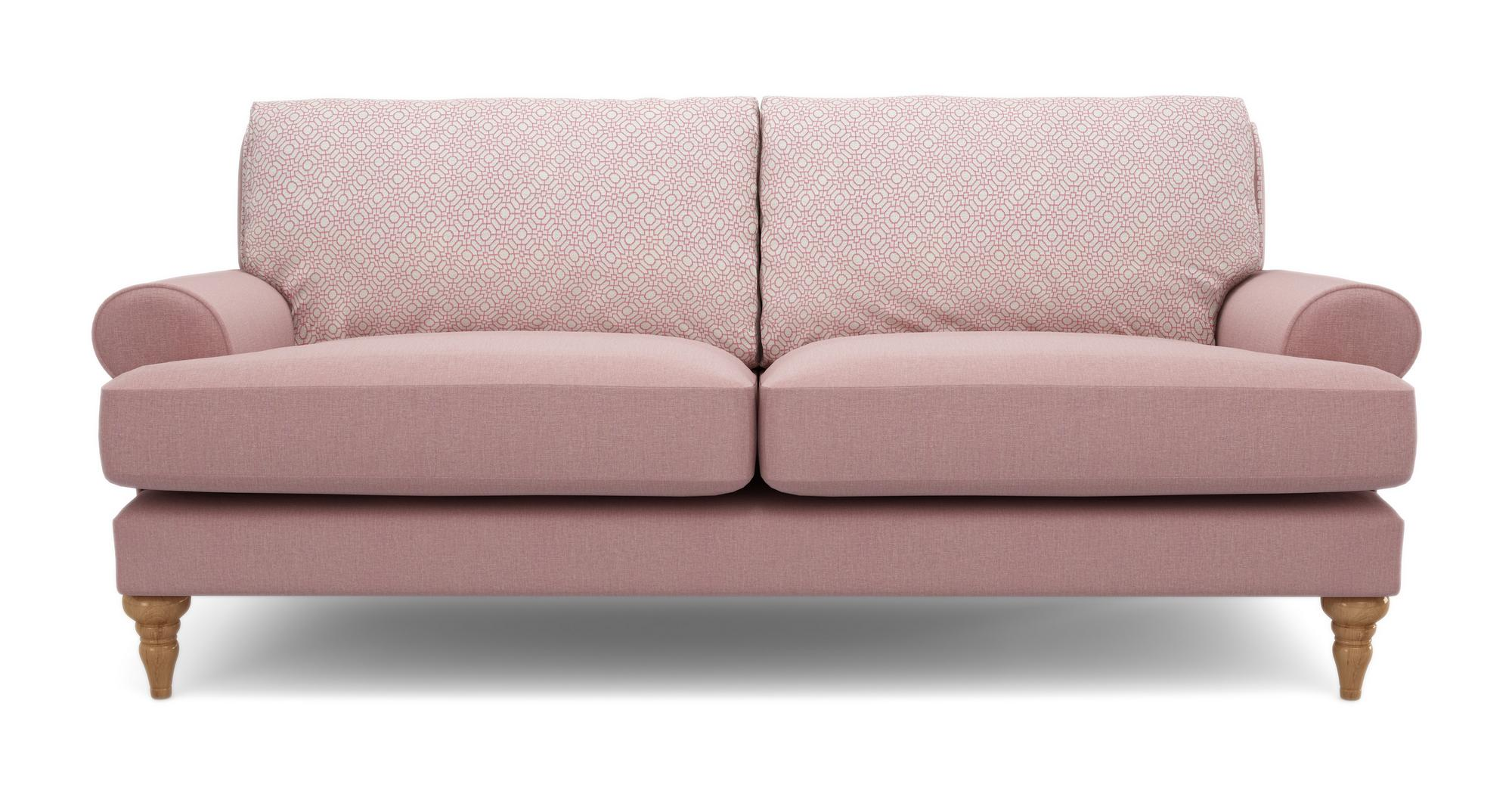 Dfs Itsy Pink Fabric Foam Maxi Sofa Armchair Banquette