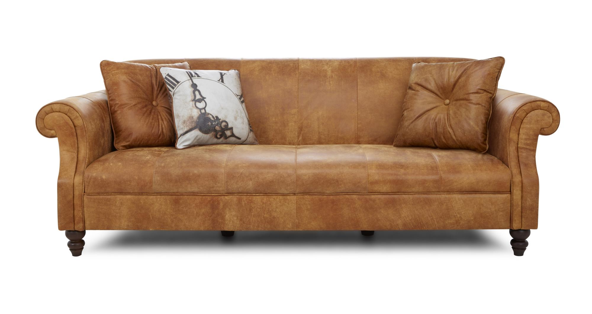 Dfs Balmoral Ranch Natural Leather 3 Seater Sofa 163182