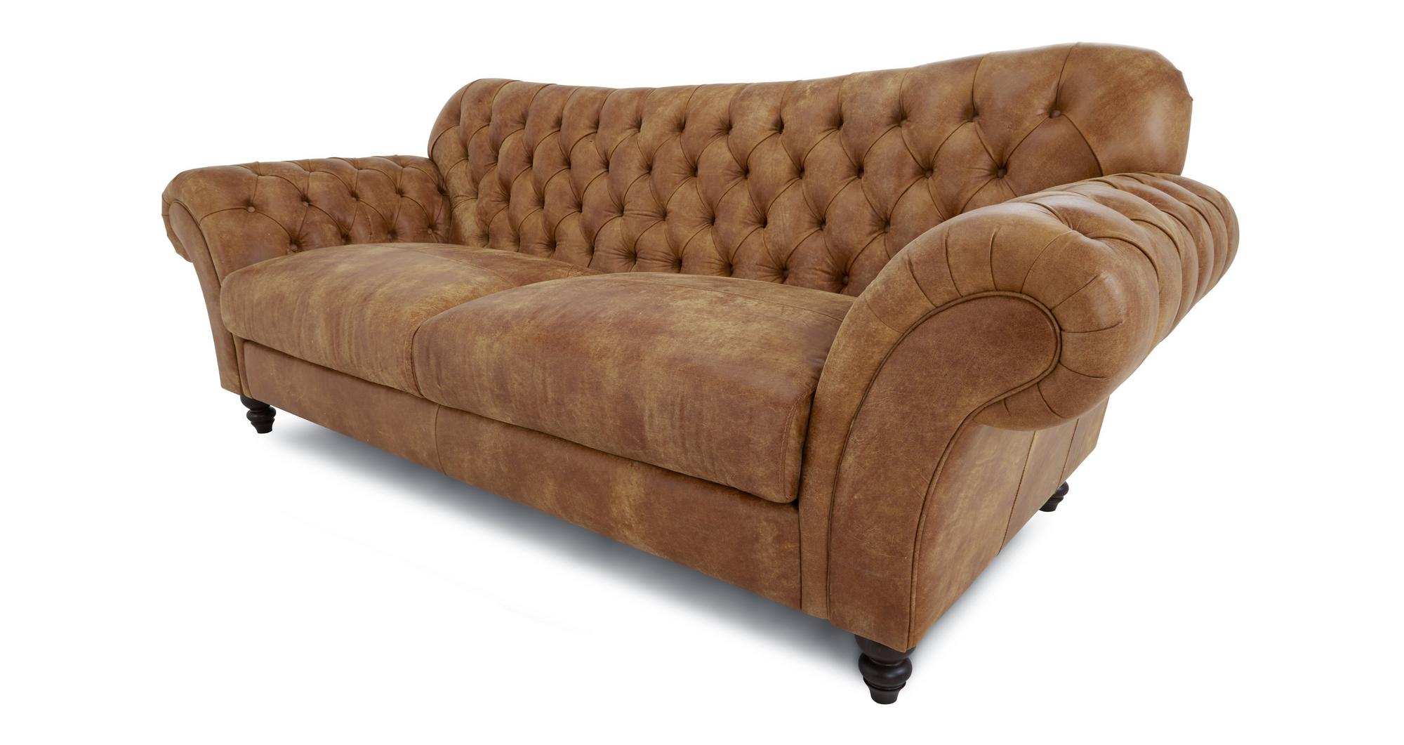 Dfs Earl Ranch Natural Leather Foam Sofa 146709 Ebay