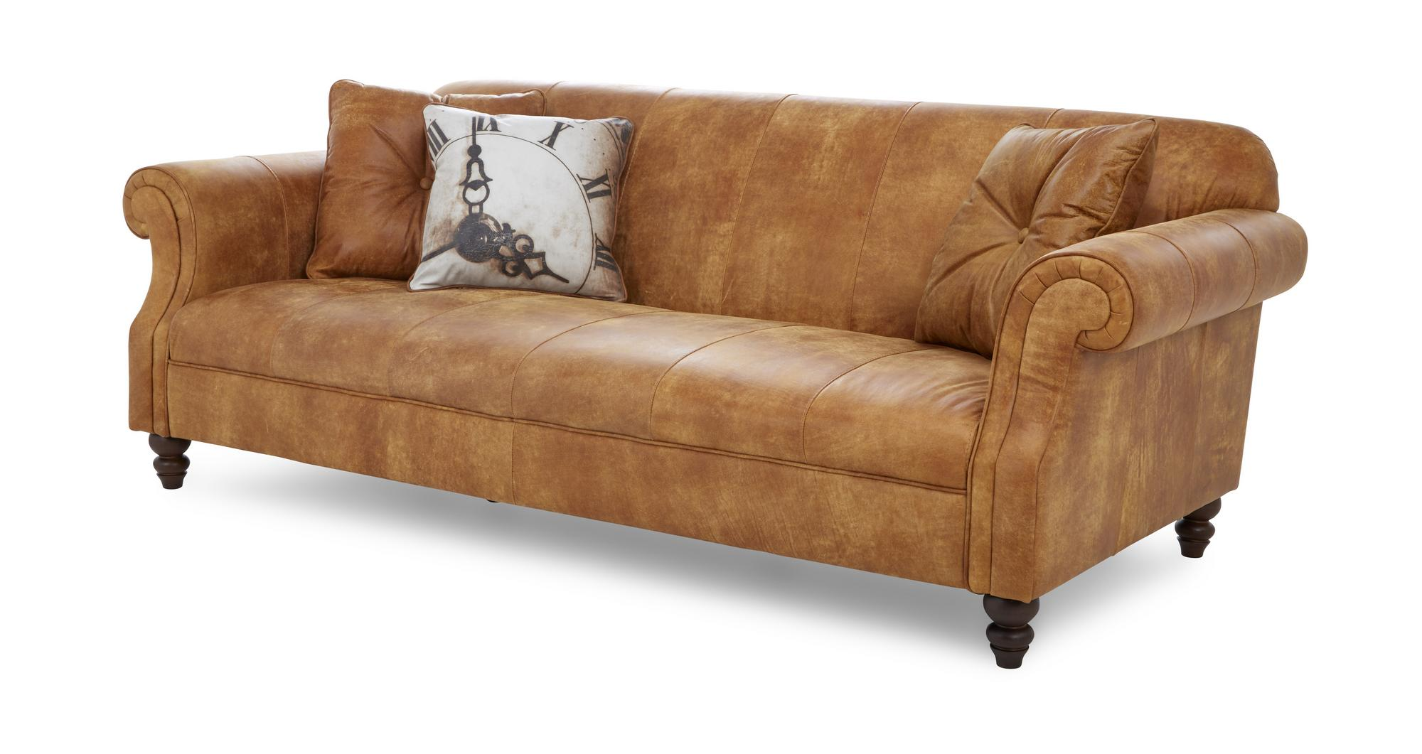 Dfs Balmoral Ranch Natural Leather 3 Seater Sofa 182208