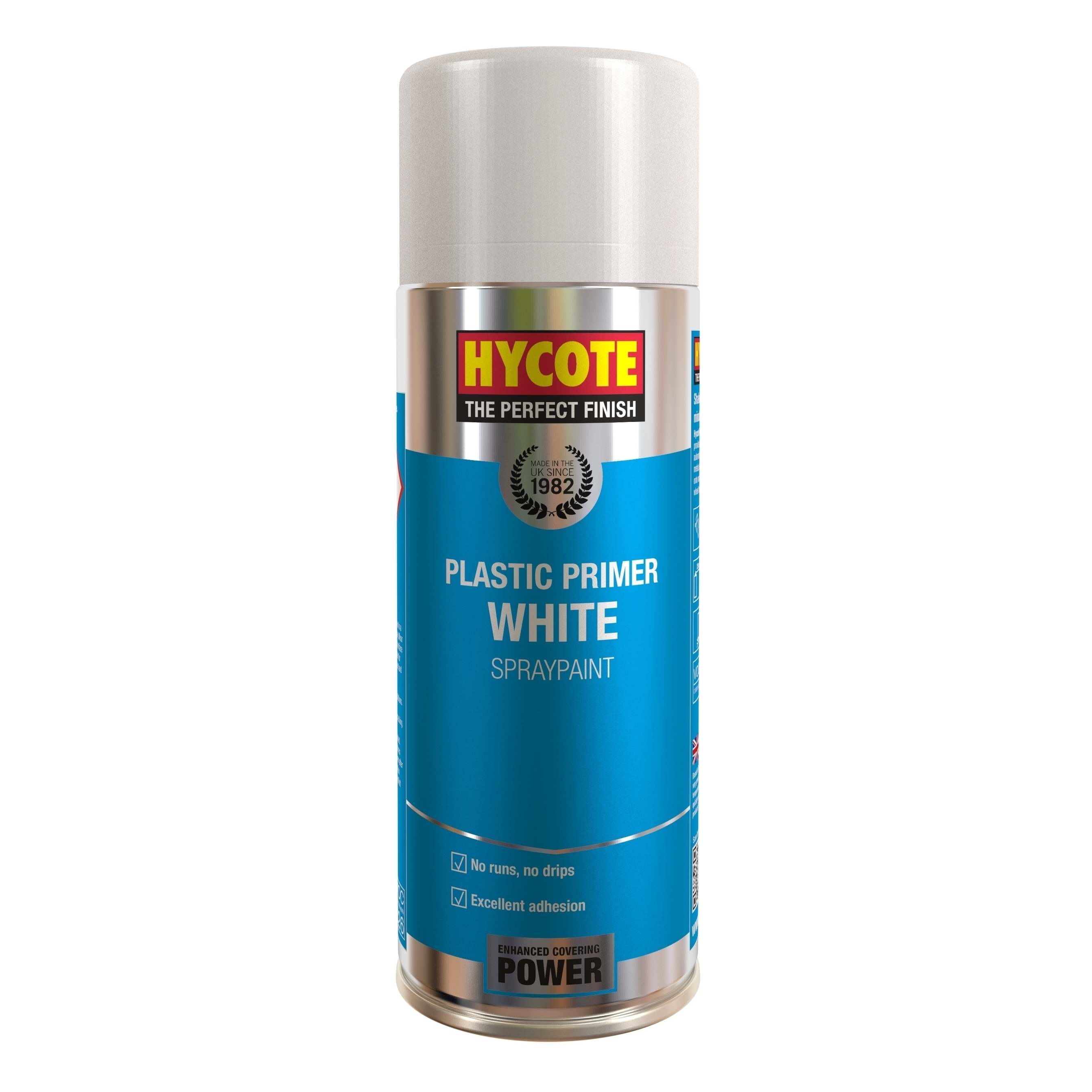 Hycote white plastic primer 400ml 1 x spray paint uk610 for Happy color spray paint price