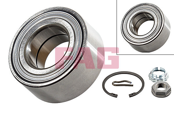 Peugeot 206 Saloon (07-) FAG Front Wheel Bearing Kit 713640180